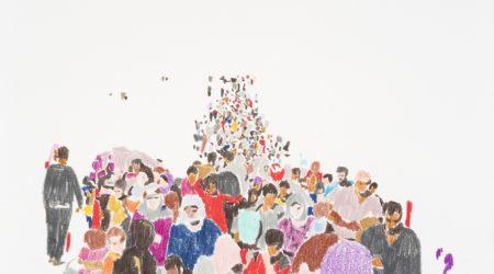S/T. 5. Frontera. Lápices de colores sobre papel. 21 x 29,7. Año 2015