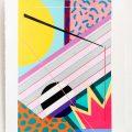 Carrer 10.  Acrylic on handmade paper. 70 x 50 cm. 2017