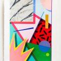 Carrer 7.   Acrylic on handmade paper. 70 x 50 cm. 2017