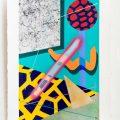 Carrer 9.  Acrylic on handmade paper. 70 x 50 cm. 2017